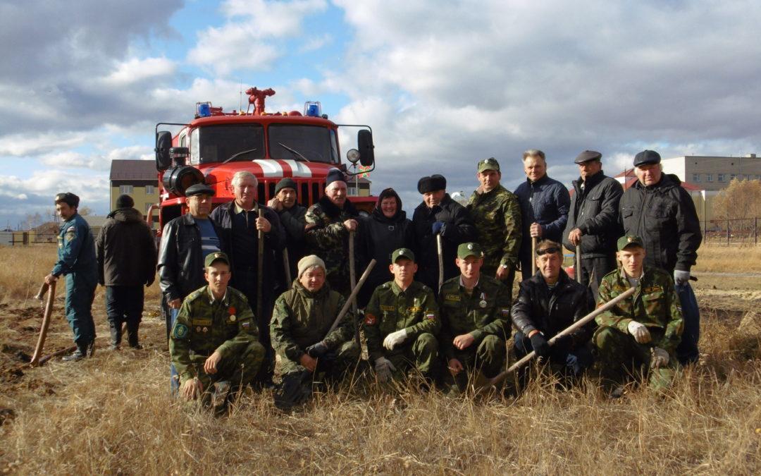 В Лебяжье заложили аллею к 100-летию пограничных войск