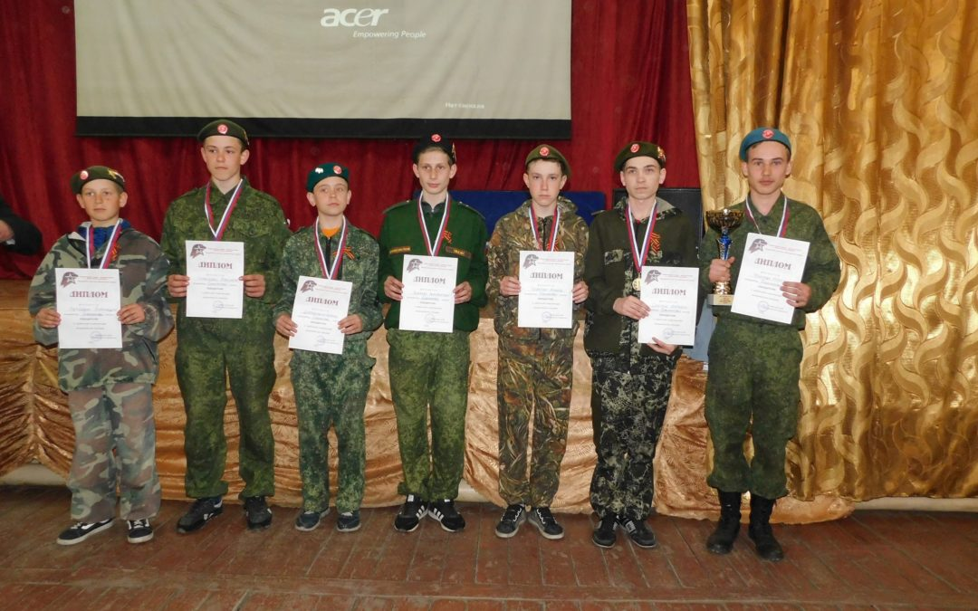 Лебяжьевские юнармейцы соревновались в спартакиаде