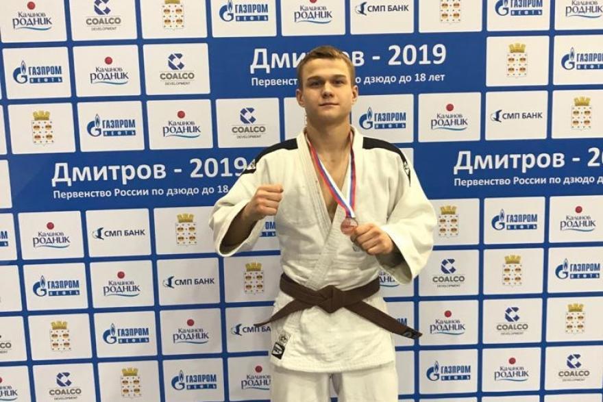 Юный дзюдоист завоевал бронзу на первенстве страны