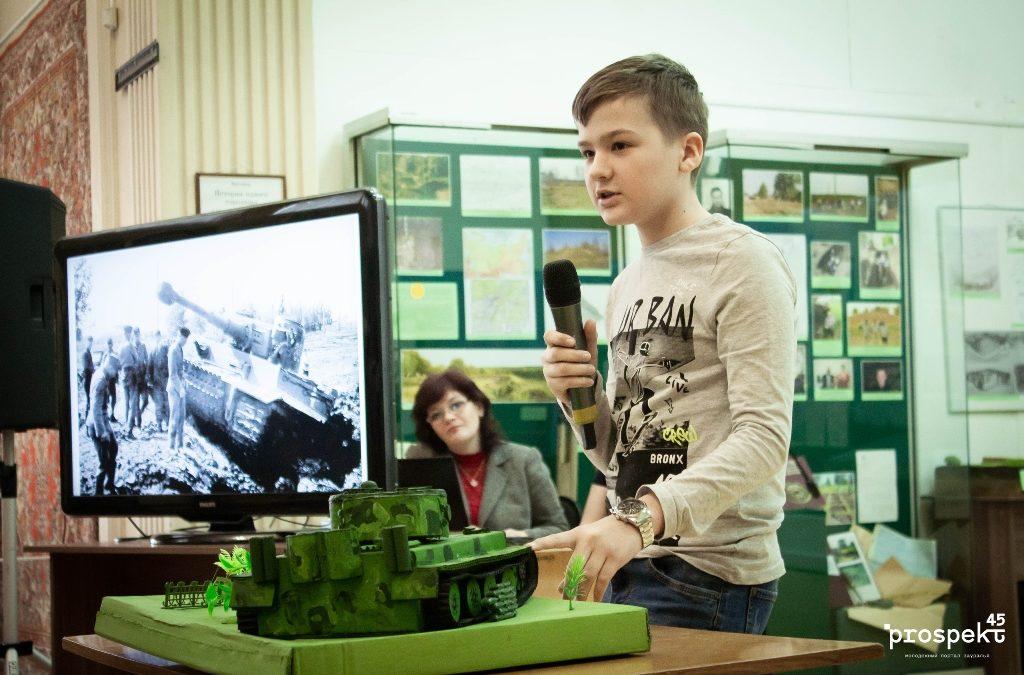 Школьники представили военно-технические модели