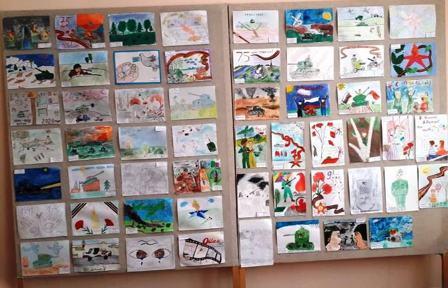 В Каргаполе организовали конкурс рисунков к 75-летию Победы