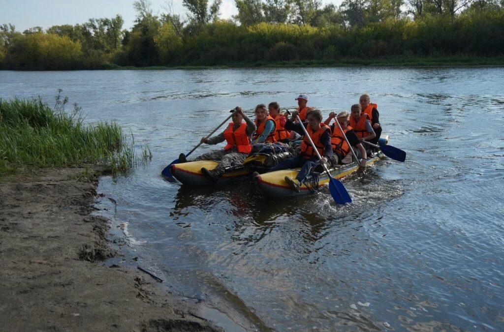 Кетовские юнармейцы совершили водный сплав